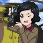 ガールズ&パンツァー 劇場版 知波単学園の寺本さんが使っていたカメラ