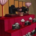 ひな壇にカメラを飾る『有頂天家族2』─その発想はなかったわ (笑)!